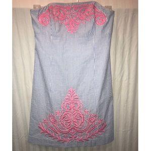 Lilly Pulitzer Beaded Seersucker Dress